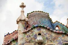 Casa Batllo Barcelona Royaltyfria Bilder