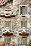 Casa Batllo Barcelona Arkivbild