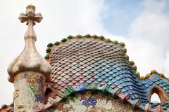 Casa Batllo Barcelona Royaltyfria Foton