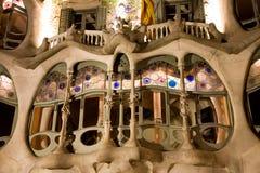 Casa Batllo, Barcelona. Casa Batllo by Antonio Gaudi at night in Barcelona, Spain stock photography
