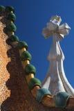 Casa Batllo in Barcelona Chimneys on the roof. Stock Photo