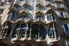 Casa Batllo, Barcelona. Royalty Free Stock Images