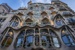 Casa Batllo in Barcelona. Front View on Casa Batlló in Barcelona Royalty Free Stock Images
