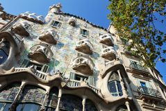 Casa Batllo in Barcelona Royalty Free Stock Photo