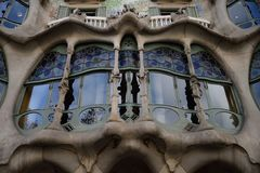 Casa Batllo Barcelona. Casa Batllo is a renowned building located in the center of Barcelona and is one of Antoni Gaudí's masterpieces. A remodel of a Royalty Free Stock Photo