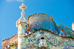 Casa Batllo, Barcelona, Spain. Royalty Free Stock Photography