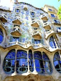 Casa Batllo, Barcelona, Spain. Casa Batllo is a building restored by Antoni Gaudi and Josep Maria Jujol, built in the year 1877 and remodelled in the years 1904 stock photos
