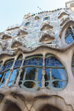 Casa Batllo in Barcelona, Spain designet by Antoni Gaudi Royalty Free Stock Photos