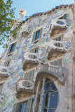 Casa Batllo in Barcelona, Spain designet by Antoni Gaudi Royalty Free Stock Image