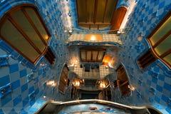 Casa Batllo - Barcelona Spain. BARCELONA, SPAIN - JUNE 12, 2014: Interior of the famous Casa Batllo, restored by Antoni Gaudi and Josep Maria Jujol, built in the stock photography