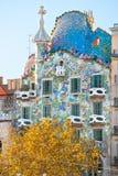 Casa Batllo, Barcelona, Spanien. arkivfoto