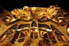 Casa Batllo, Barcelona, Spanien Arkivfoto
