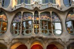 Casa Batllo - Barcelona - Spanien arkivfoton
