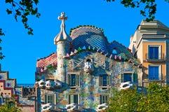 Casa Batllo, Barcelona - Spanje stock fotografie