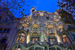 Casa Batllo, Barcelona, Spanje stock foto's