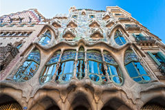 Casa Batllo, Barcelona, Spanje. stock fotografie