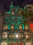 Casa Batllo in Barcelona. At Street Gracia Stock Photography