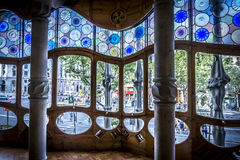 Casa Batllo in Barcelona. View throught the front window in Casa Batlló in Barcelona Royalty Free Stock Photo