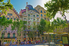 Casa Batllo building in Barcelona of Spain Stock Photography