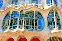 Casa Batllo close up, Barcelona, Spain Royalty Free Stock Image