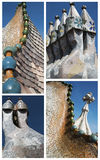 Casa Batllo collage Stock Photography