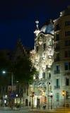 Casa Batllo in der Nacht Lizenzfreie Stockfotos