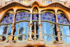 Casa Batllo detail. Detail of Casa Batllo architecture, by Antoni Gaudi. Barcelona 2015 royalty free stock image