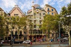 Casa Batllo di Barcellona Immagini Stock