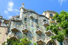 Casa Batllo, distretto di Eixample, Barcellona, Spagna fotografia stock libera da diritti