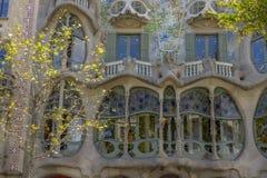 Casa Batllo, distretto di Eixample, Barcellona, Spagna Immagini Stock Libere da Diritti