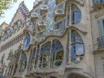 Casa Batllo, distrito de Eixample, Barcelona, España Fotografía de archivo