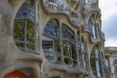 Casa Batllo, distrito de Eixample, Barcelona, España Foto de archivo