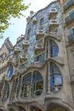 Casa Batllo, distrito de Eixample, Barcelona, España Fotografía de archivo libre de regalías