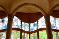 Casa Batllo, distrito de Eixample, Barcelona, Espanha Fotos de Stock