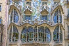 Casa Batllo, distrito de Eixample, Barcelona, Espanha Imagem de Stock Royalty Free