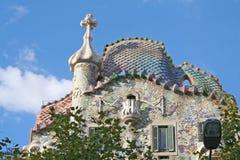 Casa Batllo door Antoni Gaudi. Stock Afbeelding