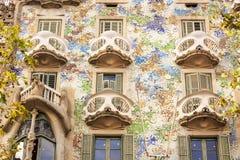 Casa Batllo door Antoni Gaudi in Barcelona, Spanje Stock Foto's