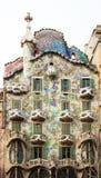 Casa Batllo door Catalaanse architect Antoni Gaudi. Barcelona Stock Foto