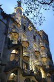 Casa Batllo at dusk Royalty Free Stock Photos