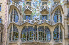 Casa Batllo, Eixample-Bezirk, Barcelona, Spanien Lizenzfreies Stockbild