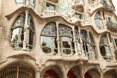 Casa Batllo, Eixample-District, Barcelona, Spanje royalty-vrije stock fotografie