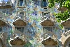 Casa Batllo, Eixample område, Barcelona, Spanien Royaltyfria Foton