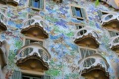 Casa Batllo, Eixample område, Barcelona, Spanien fotografering för bildbyråer