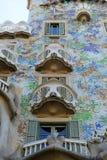 Casa Batllo, Eixample område, Barcelona, Spanien royaltyfri fotografi