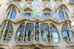 Casa Batllo, Eixample område, Barcelona, Spanien royaltyfri bild