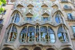 Casa Batllo, Eixample område, Barcelona, Spanien Arkivfoto