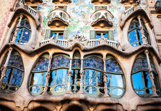 Casa Batllo el 20 de abril de 2016 en Barcelona, España Imagen de archivo