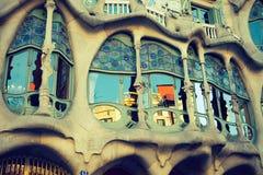 Casa Batllo el 20 de abril de 2016 en Barcelona, España Foto de archivo libre de regalías