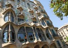 Casa Batllo en Barcelona Imagenes de archivo