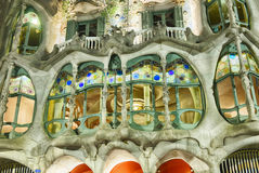 Casa Batllo Exterior Detail At Night Royalty Free Stock Photos